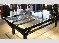 Table de ping pong sur mesure en verre et acier