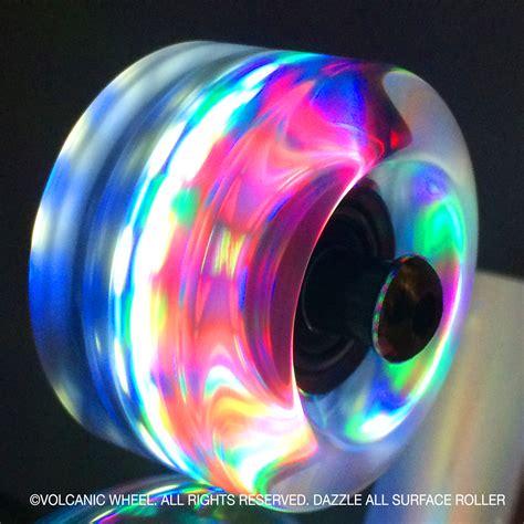 light up skateboard wheels volcanic self lightup skate wheels roller indoor