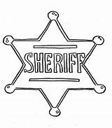 Sheriff Badge Coloring Pages Police Star Printable Template Sheet Clipart Hat Officer Getcolorings sketch template