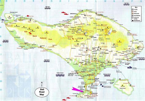 Bali Tourist Map