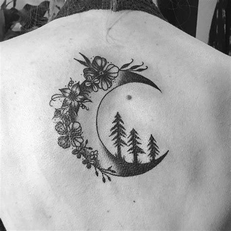 Flowers Trees The Moon Tattoo Venice Art