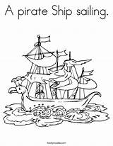 Pirate Ship Coloring Sailing Built California Usa sketch template