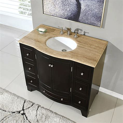 Bathroom Sink Cabinets by 40 Quot Single Bathroom Lavatory Sink Vanity Travertine