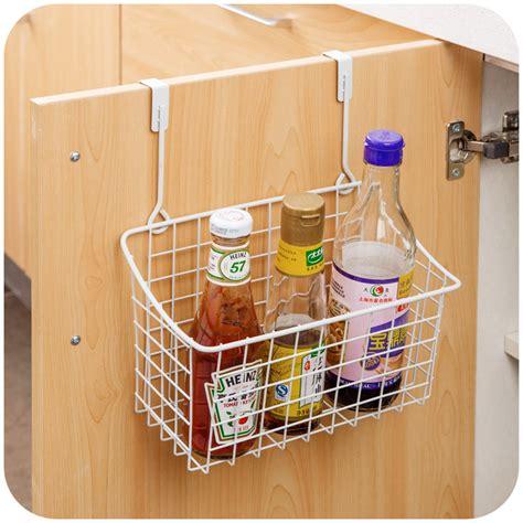 wire storage baskets for kitchen cabinets creative metal over door storage basket practical kitchen