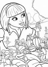 Barbie Thumbelina Coloring Pages Print sketch template