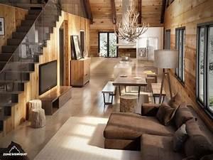 Interieur Maison Bois Rond Idee Renovation Maison Interieur