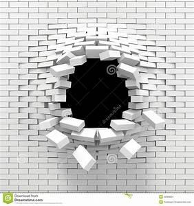 Mur Brique Blanc : destruction d 39 un mur de briques blanc illustration stock illustration du ruin fracas 20386624 ~ Mglfilm.com Idées de Décoration