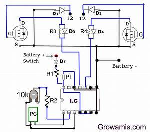 500 Watt Inverter Circuit Diagram Using Mosfet