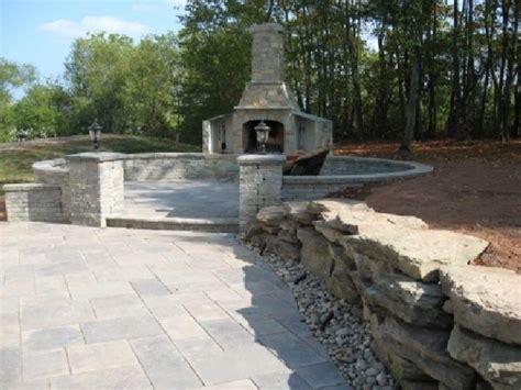 Outdoor Stone Patios, Backyard Ideas Raised Patio Stone