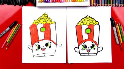 draw poppy corn shopkins art  kids hub