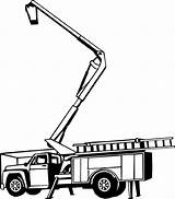 Bucket Truck Picker Tree Clipart Trimming Clip Cherry Construction Decal Equipment Coloring Vinyl Heavy Silhouette Pages Line Decals Crane Boom sketch template