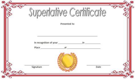 superlative certificate templates   great designs