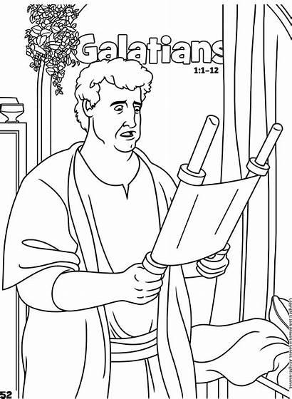 Galatians Coloring Bible Books Activities Activity Pdf