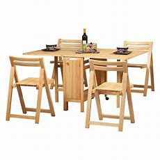 Linon Space Saver 5 Pc Folding Table And Chair Set At