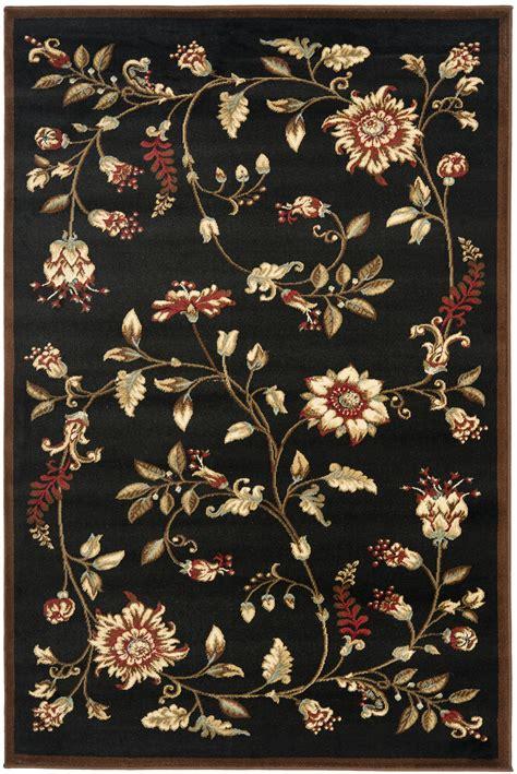 black floral area rug safavieh power loomed lyndhurst black floral area rugs