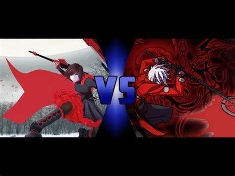 ruby rose vs ragna ruby rose vs ragna the bloodedge rwby vs blazblue one