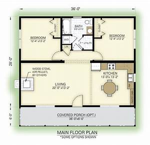 Tiny House Pläne : great cottage floor plan love the arrangement but still a little large for me 1008 sf for ~ Eleganceandgraceweddings.com Haus und Dekorationen