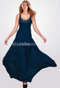 robe de demoiselle d honneur pour un mariage robe de bal longue taille empire bleu marine en mousseline