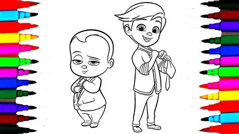 colours  kids boss baby coloring pages  dreamworks