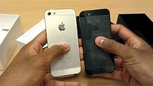iPhone 5 Black and White Comparison - YouTube