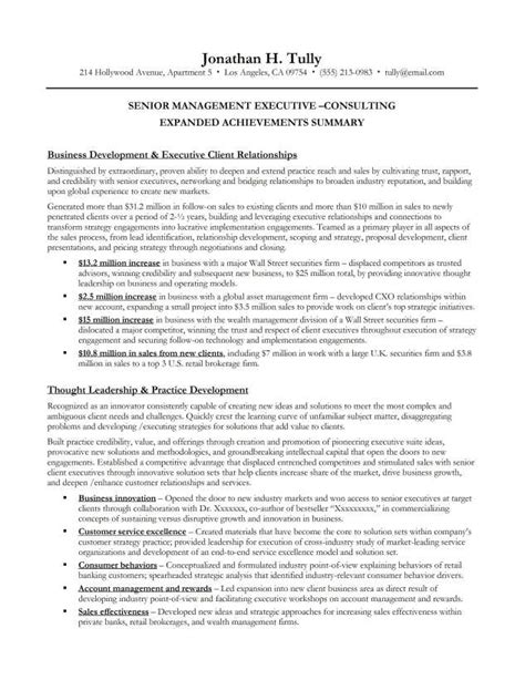 resume executive summary sle resume and cover letter