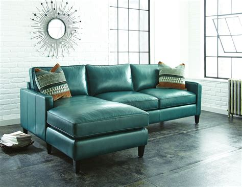 Teal Loveseat by Teal Blue Leather Sofa Thesofa