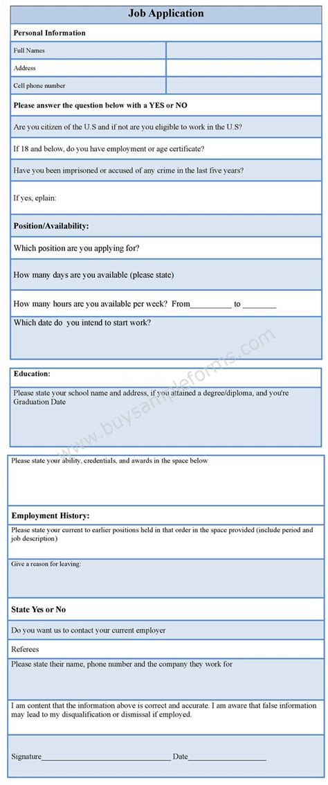 Easy Application by Application Form Printable Application Templates