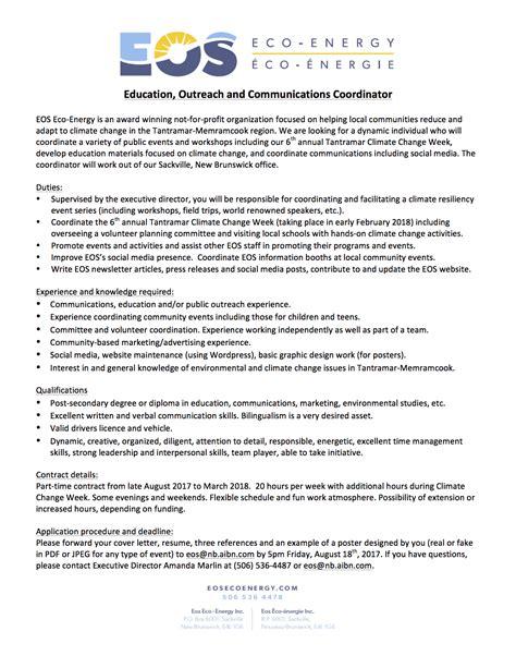 Communication Coordinator by Eos Eco Energy Author At Eos Eco Energy Inc