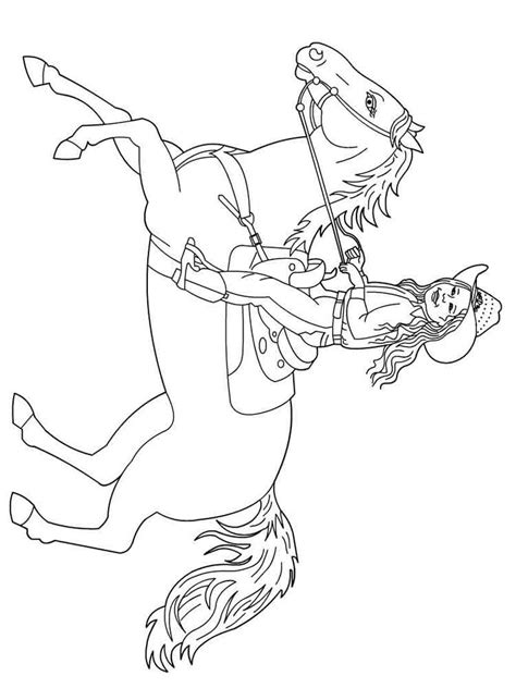 cowgirl  horses coloring pages  printable cowgirl  horses coloring pages