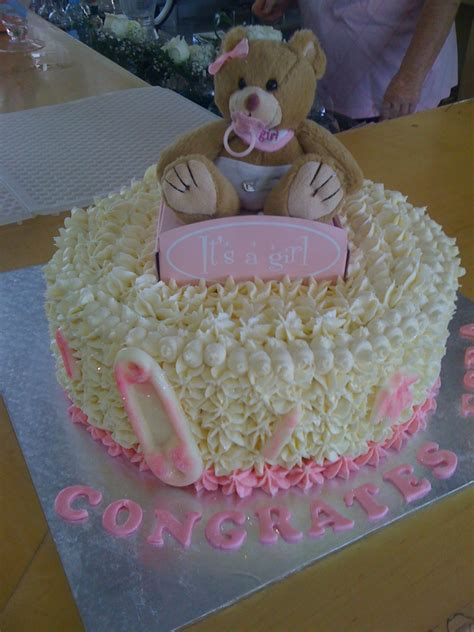 baby shower cake girl teddy cake cake decorating