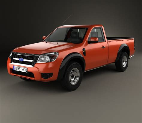 ford ranger regular cab 2009 3d model humster3d