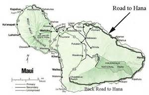 Road to Hana Map with Waterfalls