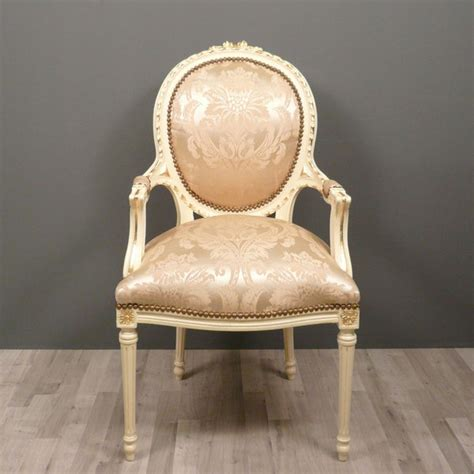 fauteuil m 233 daillon louis xvi chaise baroque