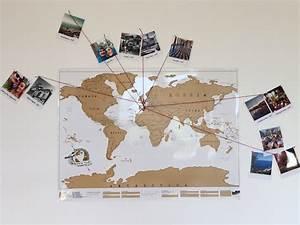 Carte Du Monde à Gratter Maison Du Monde : projet diy mappemonde souvenirs de voyages caro in the sixties ~ Teatrodelosmanantiales.com Idées de Décoration