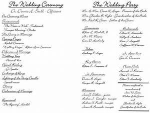 creative wedding programs wedding ceremony programs and With modern wedding ceremony outline