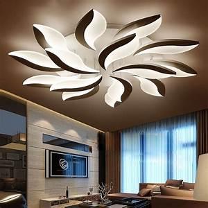 Deckenleuchten Led Schlafzimmer : neo gleam neue design acryl moderne led deckenleuchten f r wohnzimmer ~ Markanthonyermac.com Haus und Dekorationen