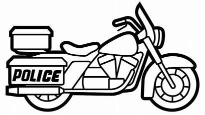 Mewarnai Gambar Motor Polisi Sepeda Untuk Coloring