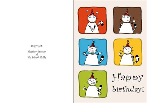 Happy Birthday Cards Color And Print Free Printable