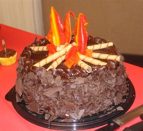 campfire cake  eagle court  honor  happy heart