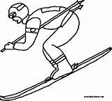 Coloring Pages Skier Skiing Winter Clipart Ski Slope Supplies Olympics Template 20coloring 20pages 20supplies Clipground Colouring Templates sketch template