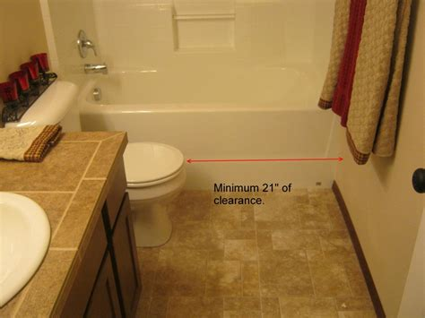 Clearance Bathroom Fixtures by Residential Code Requirement For Toilet Clearance