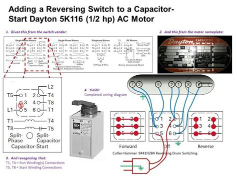 Ac Switch Wiring Diagram by Wireing A New Motor