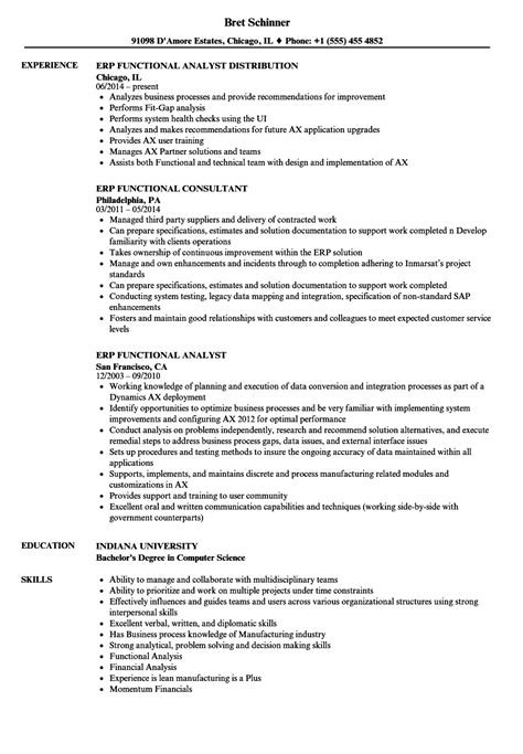 Implementation Consultant Resume by 14 Functional Sle Resume Formsresume