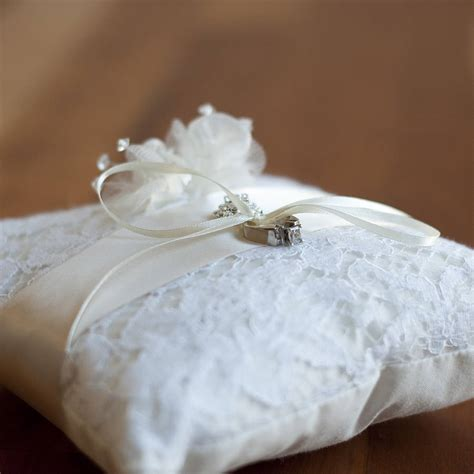 lace wedding ring pillow by gilly gray