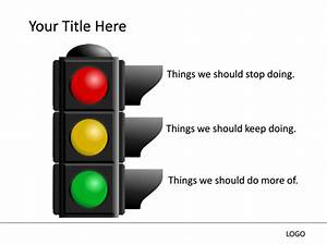 Powerpoint Slide - Traffic Signal Diagram - Multicolor