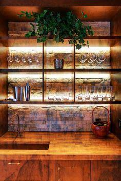 diy liquor cabinet led lighted bar shelf three steps liquor display