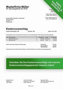Muster Lieferschein : kostenvoranschlag muster kostenlos downloaden ~ Themetempest.com Abrechnung