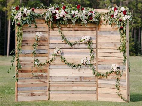Rustic Pallet Wood Wedding Backdrop Quirky Parties
