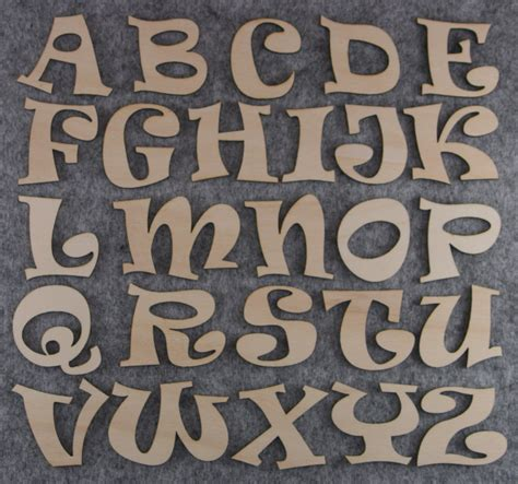 ravie font alphabet set capital    letters mm plywood great   plates