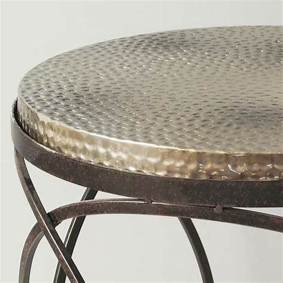 Table Metal Hammered Round Side Coffee Tables
